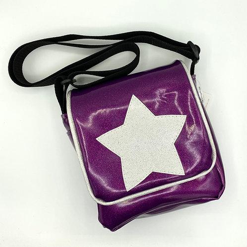 Nakatsu Star Cross-Body Bag, sparkle vinyl, glitter vinyl, cross body purse
