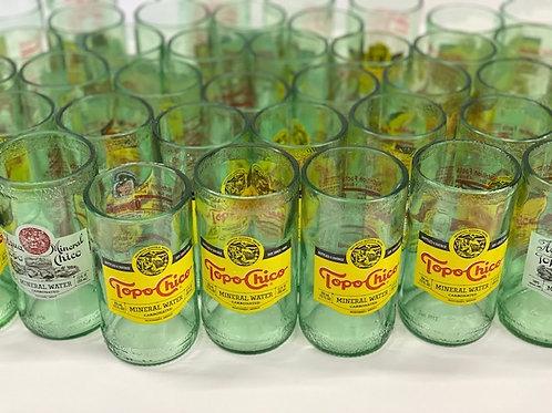 Texas Upcycle Topo Drinking Glass