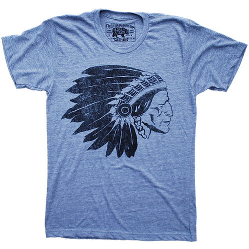 Chief Two Moons grey t-shirt, Paulville Goods, front
