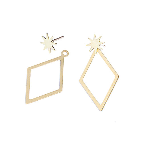 Rebekah Vinyard diamond burst earrings