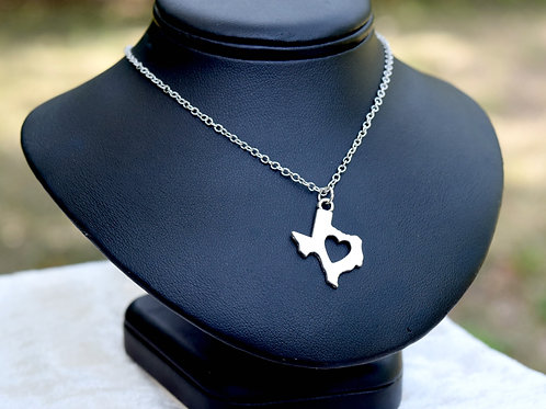 Road Side Rose For the Love of Texas Necklace