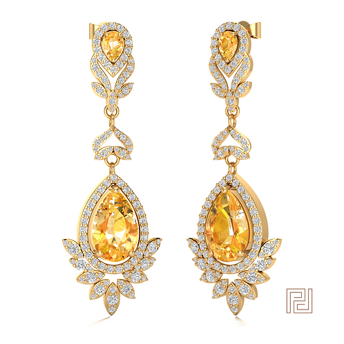 Yellow Gold Jimmu Drop Earrings
