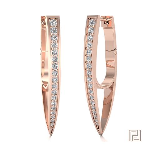 Rose Gold Torpedo Drop Earrings