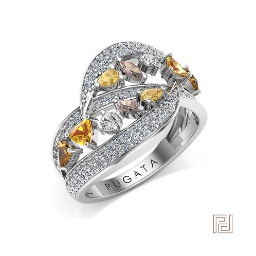 Platinum Destiny Dress Ring