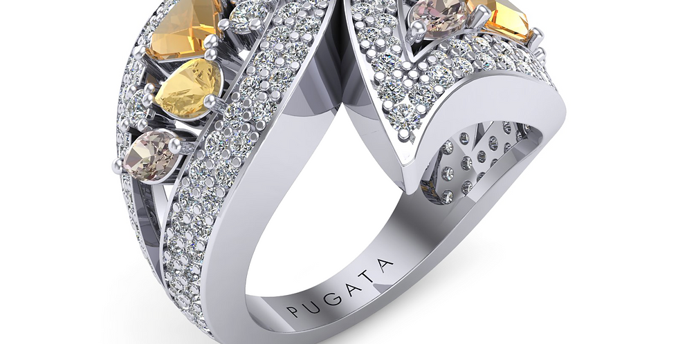 Platinum Intense Destiny Dress Ring
