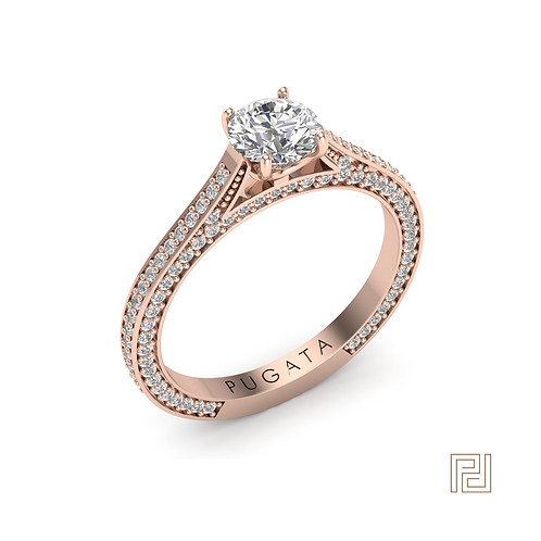 Rose Gold Solitaire Eternity Ring