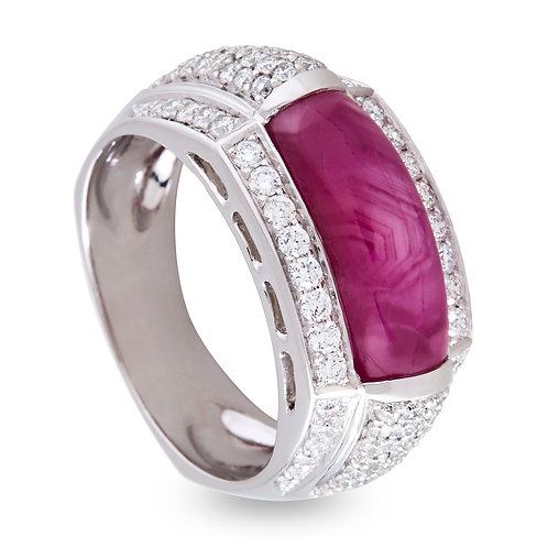 Platinum Ruby Dress Ring