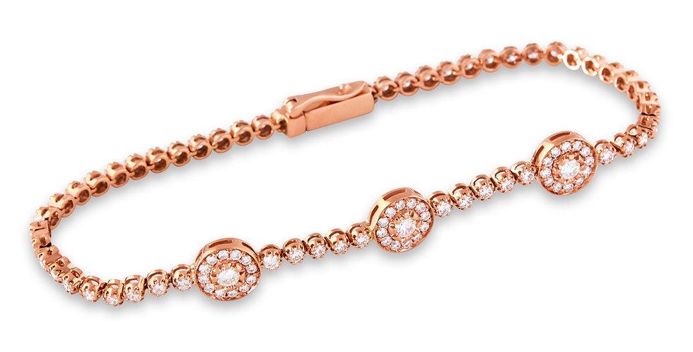Rose Gold Halo Bracelet