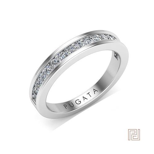 White Gold 2.5mm 50% Olivia Wedding Ring