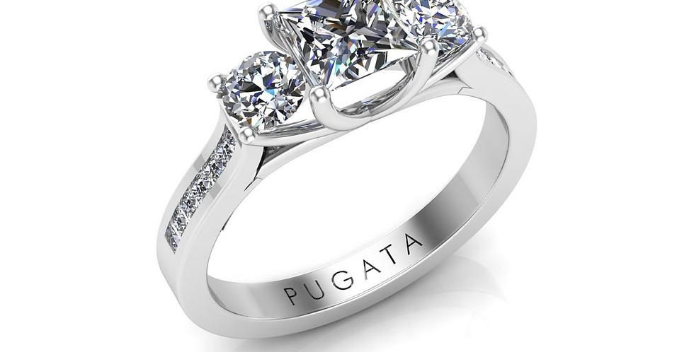 Platinum Tulip Trilogy Ring