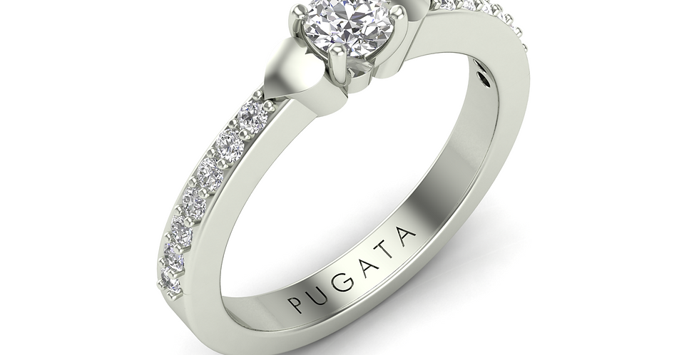 White Gold Mini Heart Ring