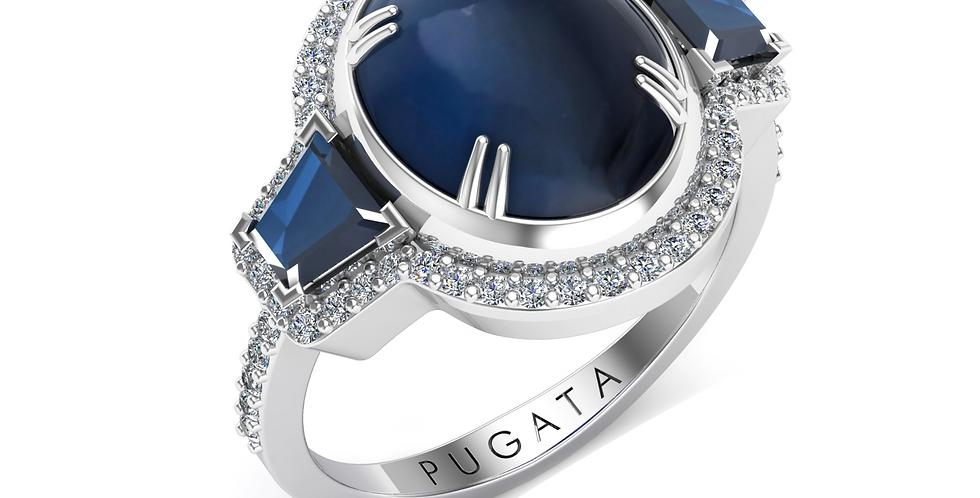 Platinum Sapphire Midnight Dress Ring