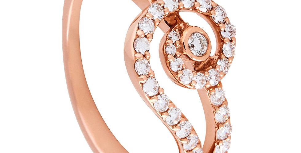Rose Gold Spiral Ring