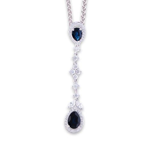 White Gold Sapphire Aurora Pendant