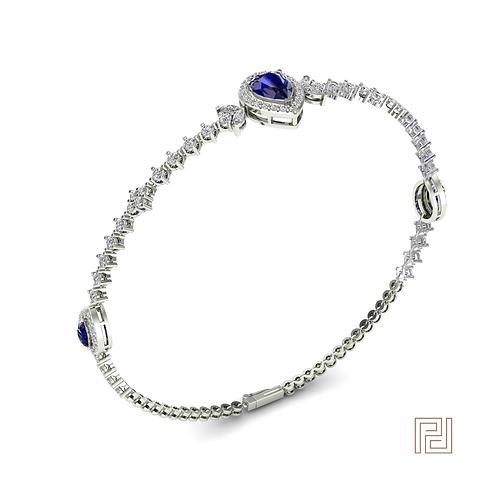 White Gold Sapphire Aurora Bracelet