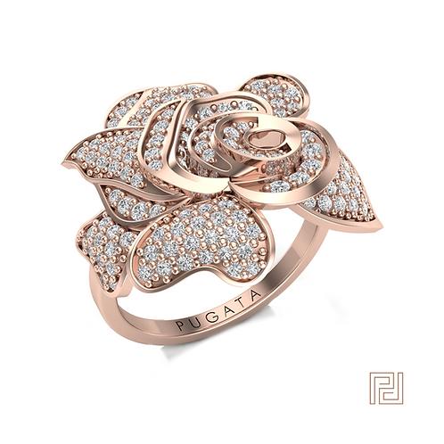 Rose Gold Rose Ring