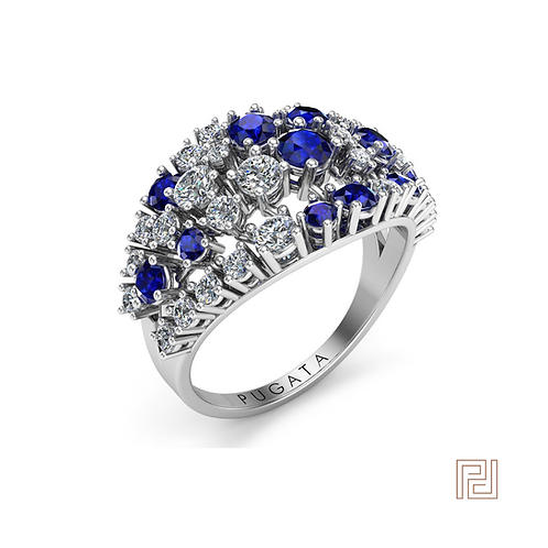 White Gold Skyfall Dress Ring