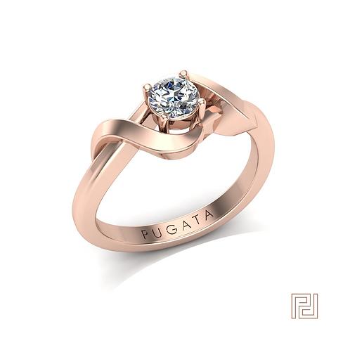 Rose Gold Open Wrap Around Ring