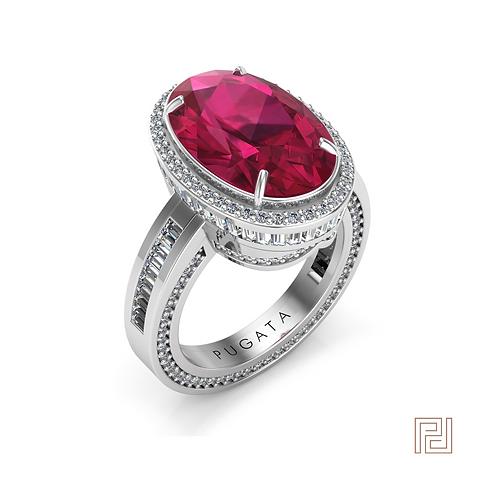 Platinum Queen Ruby Dress Ring