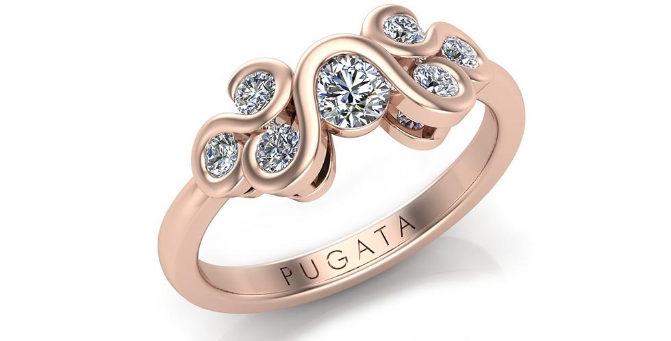 Rose Gold Jane Ring