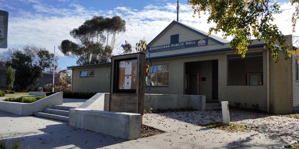 Birregurra Hall - front entrance