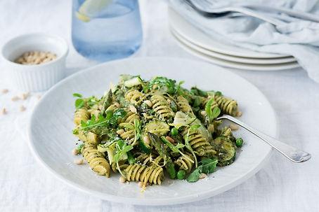 Pea-Shoot-Pesto-Pasta-with-Spring-Vegeta