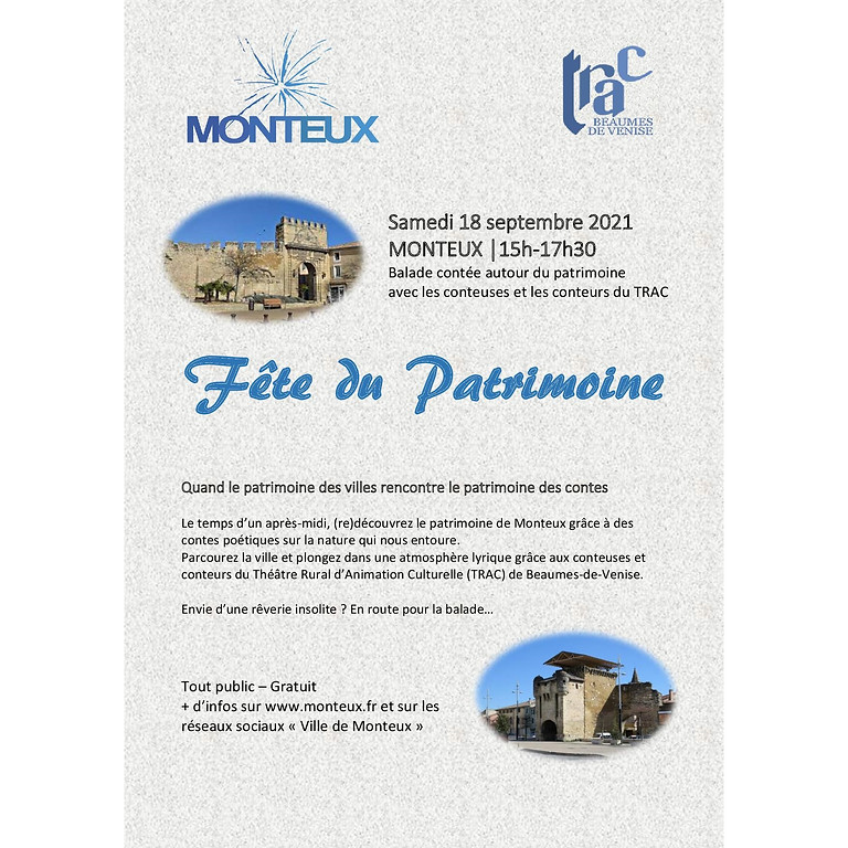 Balade contée : fête du patrimoine à Monteux