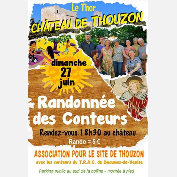 Randonnée des conteurs au Château de Thouzon