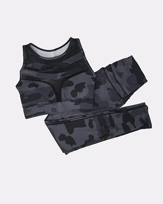 Louisa Camouflage Double Strap Mesh Set