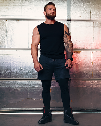 Men's Active Shorts with Fitted Leggings