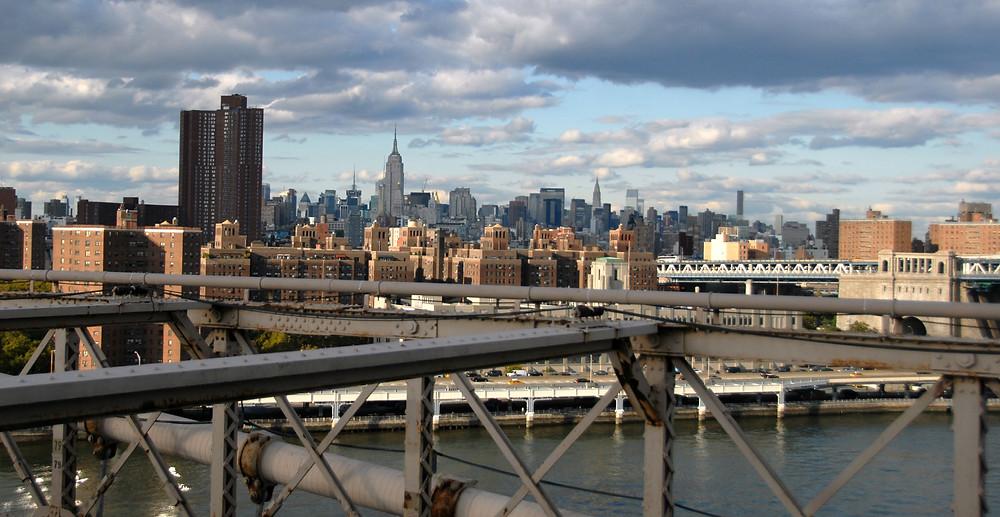 Manhattan Skyline | View from the Brooklyn Bridge