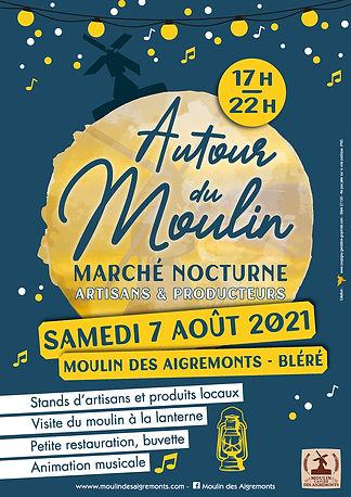 Marché nocturne Moulin Aigremonts 2021