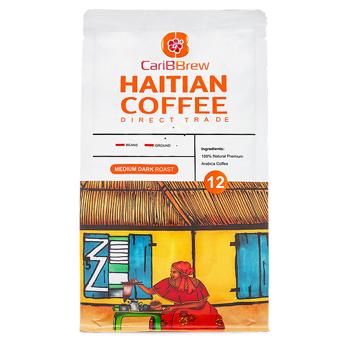 Medium Roast - Haitian Coffee -12 oz