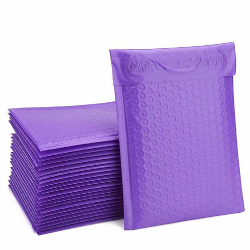 10.5x16 Purple Poly Bubble Padded Envelopes Mailers  (Inner 10.5x15)