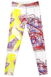 Front of Graffiti Legs Leggings