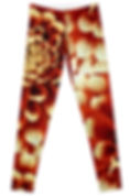 Front of Red Dahlia Leggings
