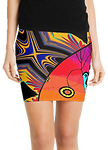 vibrant modern art pencil skirt is tight and sexy