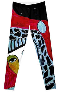 Front of Catherine Face Leggings