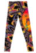 Back of The Girl With Kaleidoscope Eyes Leggings