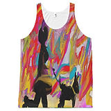 vibrant art tank top doubles as a vest