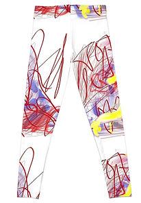 Back of Graffiti Legs Leggings
