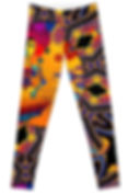 Front of The Girl With Kaleidoscope Eyes Leggings