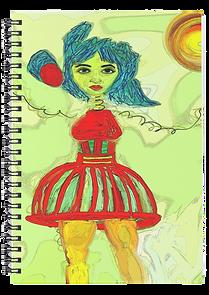 unique original art cover on a spiral notebook