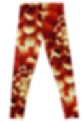 Back of Red Dahlia Leggings