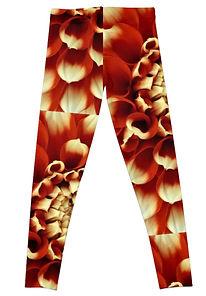 Back of Red Dahlia Leggings