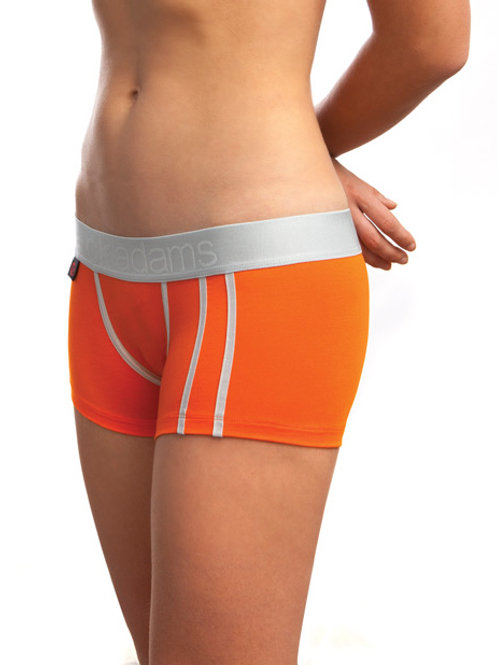 Jack Adams Women's LUX Modal Boy Short Orange SM