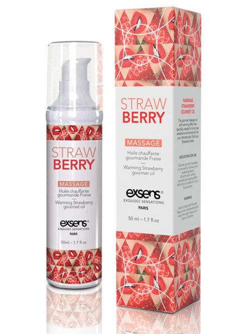 EXSENS of Paris Warming Massage Oil - Strawberry