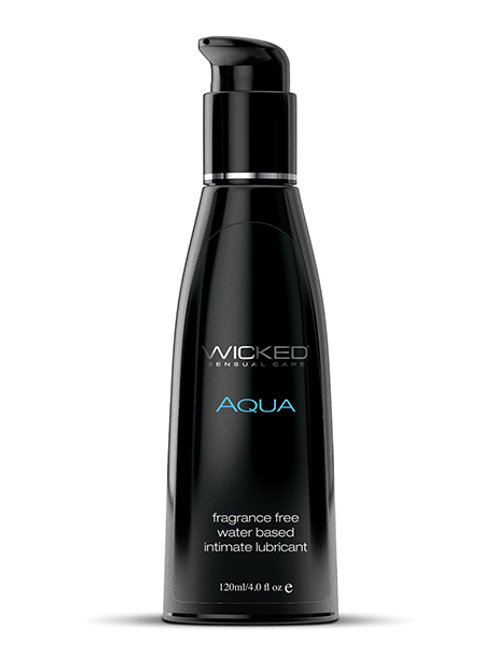 Wicked Sensual Care Aqua Water Based Lubricant - 8.5 oz Fragrance Free