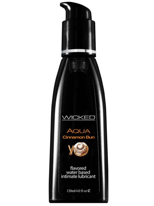 Wicked Sensual Care Aqua Water Based Lubricant - 4 oz Cinnamon Bun