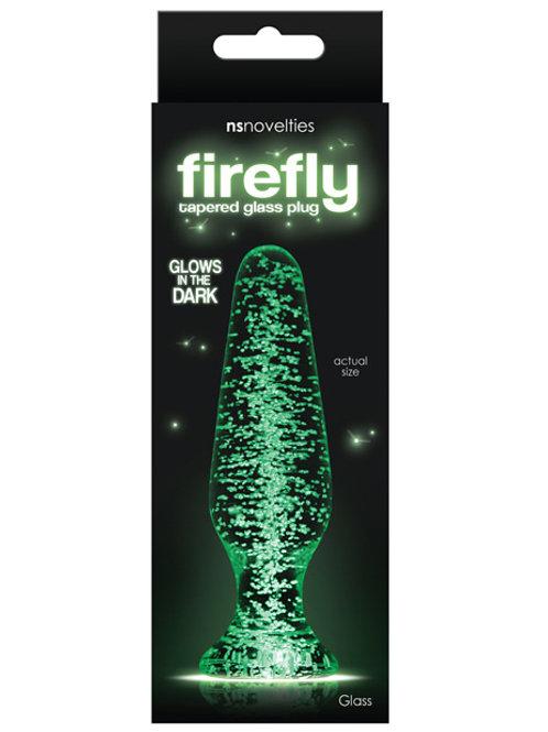Firefly Clear Glass Plug Tapered - Glow